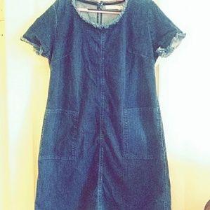 Casual Denim Dress With Pockets